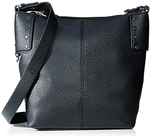 Esprit Accessoires Damen Taia Shldbag Umhängetasche, Schwarz (Black), 12x24,5x20 cm