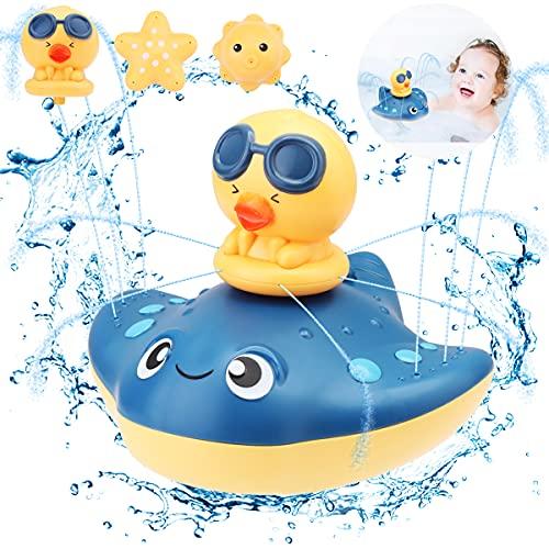 VUENICEE Juguetes Baño Bebe 1 2 3 años,Animal Juguete con Inducción Automática ,3 Formas de Juguetes Piscina Bebe,Juguetes de Agua para Niños y Niñas