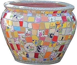 Kotee Blomkrukor Färgglada vas trädgård växt behållare keramik utomhus blomma kruka kreativ färgprocess mönster växt krukv...