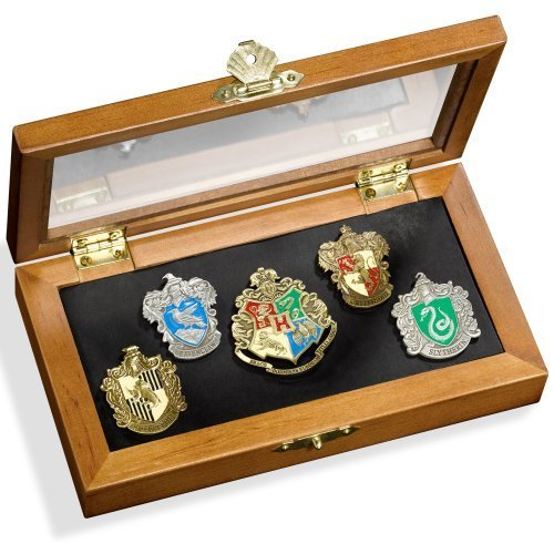 HARRY POTTER Noble Collection NN7374 Collezione 5 Spille Casate di Hogwarts