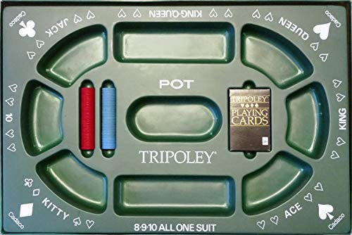 TRIPOLEY: The Original Game of Hearts, Poker and Michigan Rummy..(1968) by CADACO, Inc. by TRIPOLEY