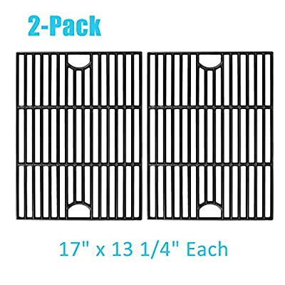 BBQration 17 inch Matte Cast Iron Cooking Grid Grates Replacement Parts for Nexgrill 720-0830H, 720-0670, 720-0341, Kenmore 122.16119 415.16107110, Uniflame GBC981W GBC091W, Uberhaus and More