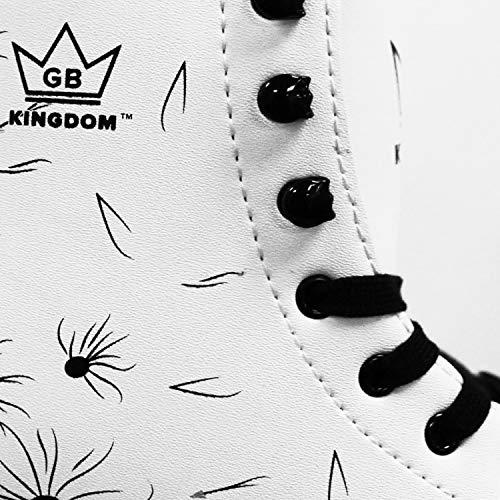 Kingdom GB Venus v2 Quad Roller Skates Girls (White/Black, 1 UK)
