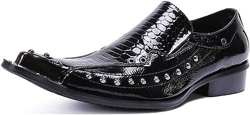 XLY Mocassins de Smoking Smoking pour Hommes, Chaussures de soirée Formelles Formelles pour Hommes,noir,45  design simple et généreux