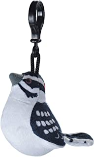 Wild Republic Downy Woodpecker Plush Clip, Stuffed Animal, Bird Toys for Kids, Birders, 4""