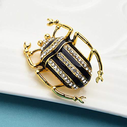 YJRIC Broche Broches de Escarabajo Esmalte de Diamantes de imitación Insectos Mujeres Unisex Oficina Fiesta Broche Pines Regalos