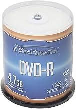 Optical Quantum DVD-R 4.7GB 16X White Inkjet Printable Hub Printable - 100pk Cake Box (FFB)