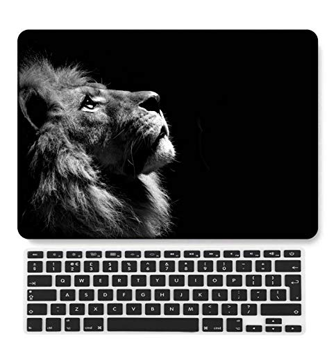 GangdaoCase Plastic Ultra Slim Light Hard Shell Case Cut Out Design Compatible New MacBook Pro 15 inch with Touch Bar/Touch ID with UK Keyboard Cover A1707/A1990 (Animal A 212)