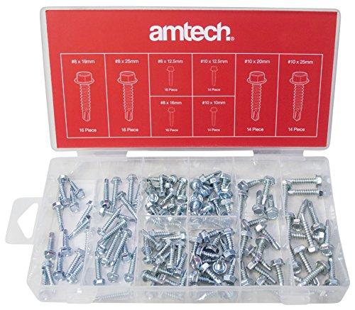 Amtech S6295 Set di Viti Perforazione, Multicolore