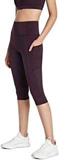 Rockwear Activewear Women's 3/4 Logo Perforated Pocket Tight BlackBerry 14 from Size 4-18 for Bottoms Leggings + Yoga Pant...