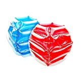 Wonderful ltd Inflatable Body Bumpers, 2 Piece Wearable Heavy Duty Durable PVC Vinyl with Repair Patches, Body Bubble Ball Bumper Bopper Physical Outdoor Activity Play for Kids Children, Red and Blue