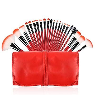 Makeup Brushes Set, Essential Red Makeup Brush 22pcs Foundation Kabuki Blush Fan Eyeshadow Brushes Compatible with Cosmetic Case …