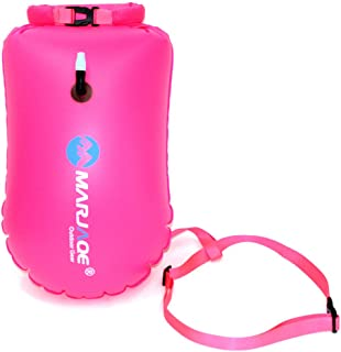 Agirlgle Swim Buoy, Swim Bubble for Open Water Swimmers and Triathletes, 20L Storage Swimming Life-Saving Dry Drift Bag for Kayakers, Highly Visible Buoy Float for Safe Swim Training