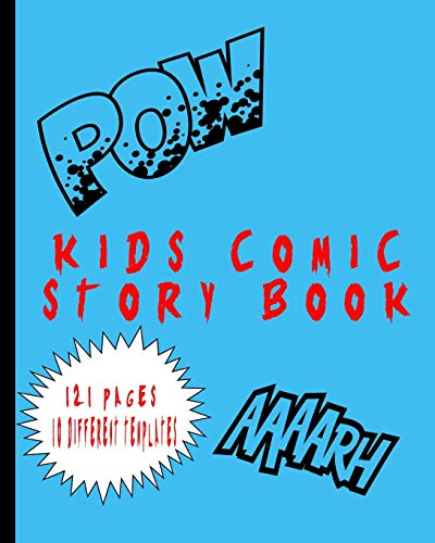 Kids Comic Story Book Zap Pow: Blank Templates Variety Of Templates Draw Your Own Story's