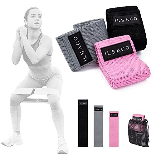 ILSACO® Premium Fitnessband [3er Set], Widerstandsband 🙼 entspricht...