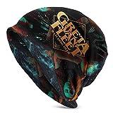 Greta Van Fleet Unisex Adulto Sombreros de punto Gorro Sombrero Invierno Cálido Impresión Cráneo Gorra Negro