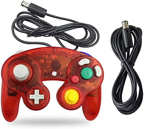 VGOTI ゲームキューブ コントローラー 1パック クラシック 有線コントローラー 延長ケーブル付き Wiiゲームキューブ GCコンソール用 AMNGC1