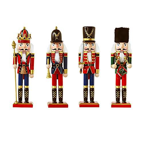 BlueSpace - Il soldato schiaccianoci, pupazzetto in legno, tradizionale decorazione natalizia, regalo di Natale, decorazione per la casa, 30,5 cm 365 cm ca. Set