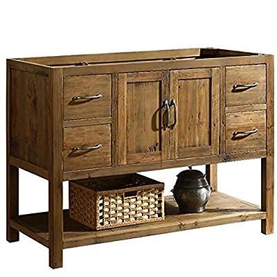 "Design Element DEC4006-B-CB Austin 48"" Farmhouse Single Sink Bathroom Vanity Base Only - Solid Reclaimed Wood Constrcution, Natural"