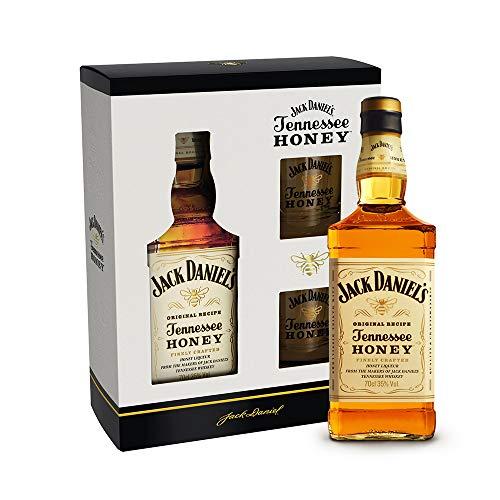 Jack Daniel's Tennessee Honey Set - Geschenkkarton inkl. Gläser   Ideal zum Verschenken (1 x 0,7 Liter)