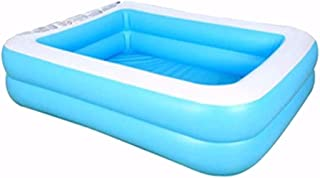Holata Inflatable Swimming Pools Above Ground for Baby, Kiddie, Kids, Adults, Outdoor, Garden, Backyard, Summer Water Party (181x141x46cm, Blue)