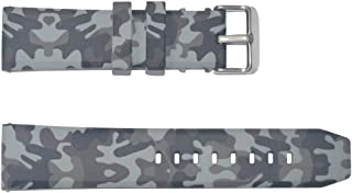 Senphyton Camo Rubber Watch Bands 24mm Replacement with Stainless Steel Buckle - 24mm Rubber Watch Strap
