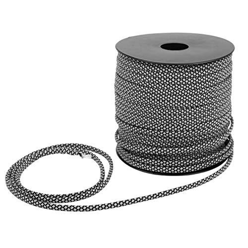 Kuuleyn Atado de Rescate, 50M 4MM de Espesor 7 núcleos Cuerda de Paracord para Tienda Cuerda para Acampar Cordón Trenzado Fuerte para Senderismo, Escalada(Plata)