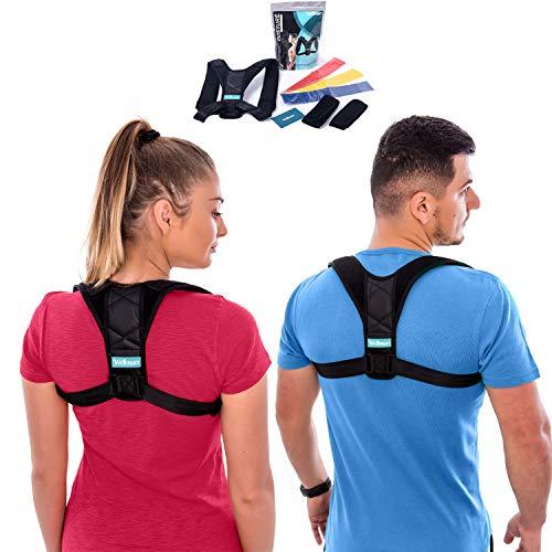 Wellmarr Posture Corrector for Men and Women - Adjustable Upper Back Brace to Improve Bad Posture...