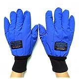 極低温の液体窒素保護手袋、冷凍庫用手袋、 パイルミット手袋(防寒手袋) 耐熱-268°C~+148°Cで、洗濯機での水洗いやオートクレーブにも対応します(場合によって多少縮むことがあります)。 (320mm)