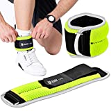 Fitness Adjustable Ankle Weight with Reflective Trim-Exercise Leg Weights for Glutes Workout, Running, Lifting, Jogging,Cardio(N Blue)