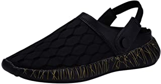 Men Mesh Breathable Sandals, Male Solid Outdoor Leisure Flip Flops Beach Shoe Slipper Sandals