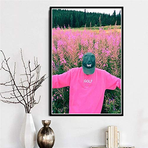 JIAYOUHUO Póster e impresiones Tyler Der Schöpfer Hip Hop Rapero Cantante Estrella A $ AP Rocky Lienzo Pared Arte Pintura Pared Fotos Habitación Decoración Del Hogar
