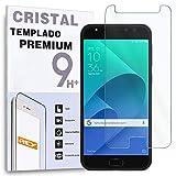 REY Protector de Pantalla para ASUS ZENFONE 4 Selfie Pro ZD552KL, Cristal Vidrio Templado Premium