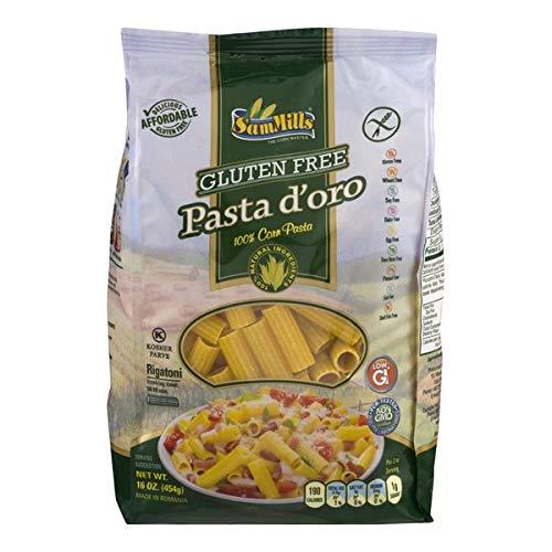 3 BAGS Sam Mills GLUTEN FREE Pasta D'oro RIGATONI (100% Corn Pasta) 12 oz/bag