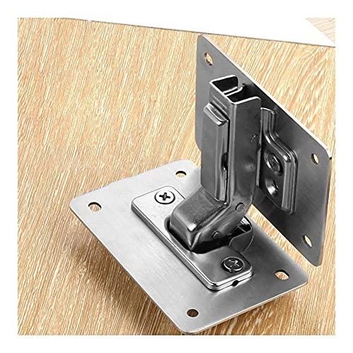 XJS Durable Panel De Reparación De La Bisagra Estable Gabinete De Alta Resistencia Hardware Hardware Resistente A La Bisagra Placa De Reparación para La Ventana para Puertas (Color : 1)