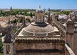 WFTD Puzzle de 1000 Puzzle Rompecabezas Puzzle Catedral de Sevilla Giralda Catedral de Sevilla Techo para niños Adultos DIY Juguetes Regalo