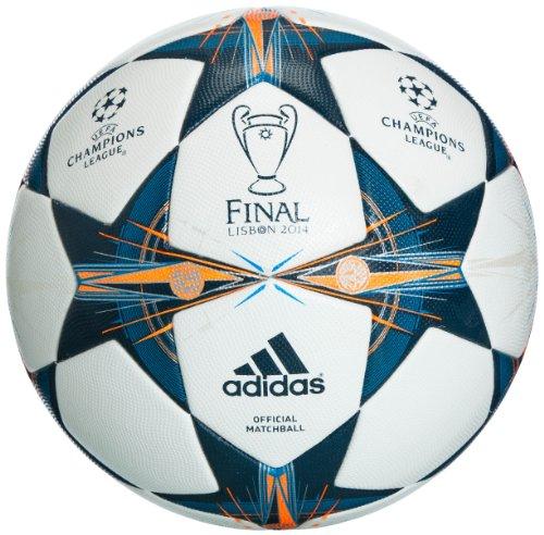 adidas Fußball Finale 14 Lissabon Omb, Wht/Triblu/Solblu, 5, G82974
