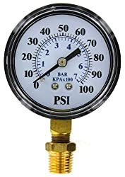 Flotec Brands2O TC2104-P2 Well Pump Pressure Gauge