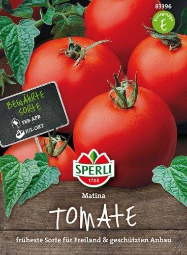 Sperli 83396 Gemüsesamen Tomaten Matina, grün