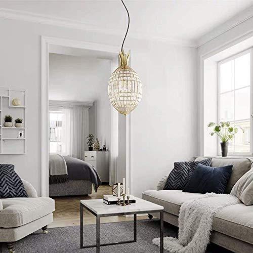GANG Sala de Estar Nórdica Dormitorio Cristal Cristalino Cabeza Retro Luz de Lujo Pasillo Corredor Lámpara Lámpara de Araña Sencillez moderna