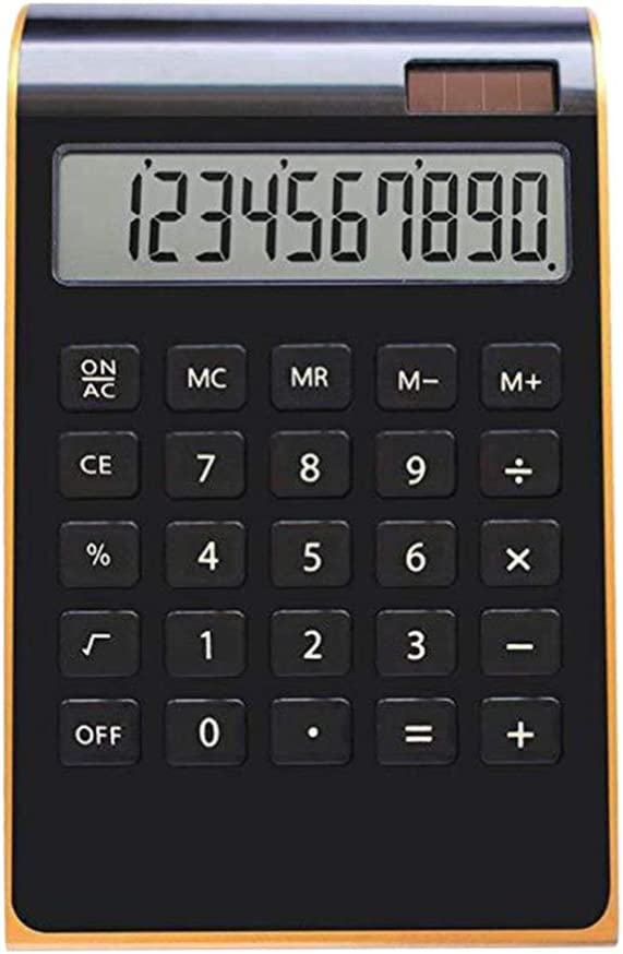 Max 80% OFF NUOBESTY Solar Powered Calculator Gold Portable safety Ultra-Thin Cool