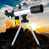 Télescope astronomique Monoculaire Definition Définition élevée 90X Refr Réfracteur pour Lunette de visée réfractive Télescopes pour Adultes Enfants Enfants