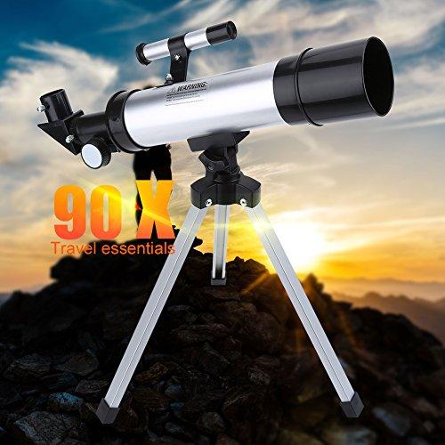 Telescopio Astronómico Monocular, Alta Definición 90X, Refractor de Alcance de Espacio Refractivo, Telescopios para Adultos Niños Niños