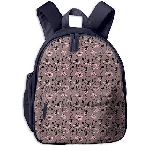 DJNGN Children's Backpack Hockey Field Blue Tones Red, Toddler Kids School Bag, Kinder Racksack for 26 Years Old