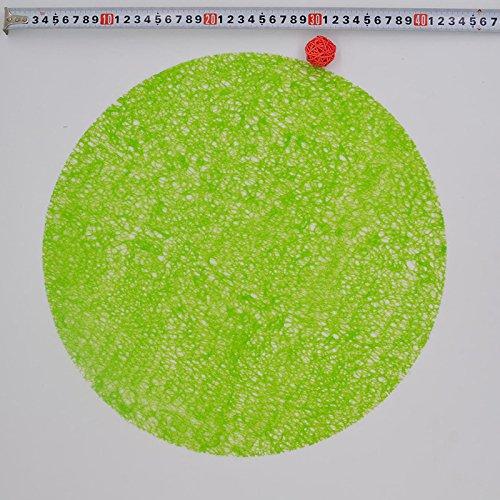 Produit Neuf 38 cm Cercle Dessous de Verre Cristal Transparent Pad antidérapant Tapis de Table Plastique Isolation Pad Set de Table Tapis de Table de Salle à Manger 6zb007 Green 1 pcs
