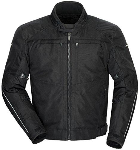 TourMaster Men's Pivot Textile Touring Motorcycle Jacket (Black)