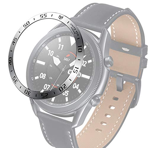 PANGTOU Para Samsung Galaxy Watch 3 45 mm reloj inteligente anillo bisel de acero, una versión