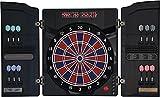 Dartona Elektronische Dartscheibe CB40 Cabinett - Turnierscheibe mit 27 Spielen und über 250 Varianten