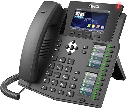 Fanvil X6 Cornetta cablata 6linee LCD Nero telefono IP