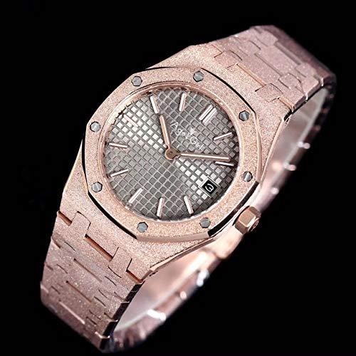 CHQSMZ Montres mécaniques Nouvelles Femmes Lady Watch Girl Sapphire Matte INOX Steel Luminous Watches Royal Oak Rose Gold Black Blue Grey AAA+ 8